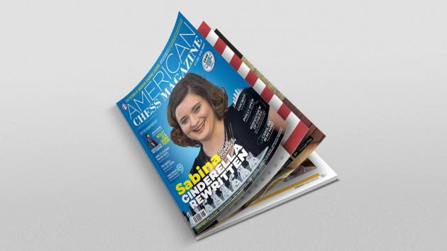 Sabina Foisor on the cover of the American Chess Magazine Issue no.3!