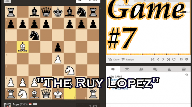Trying Ruy Lopez Opening