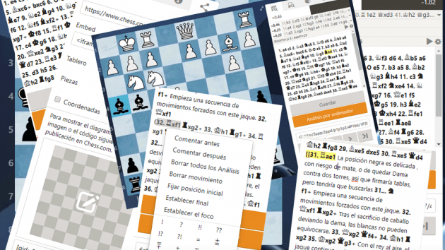 Crear y compartir diagramas en chess.com