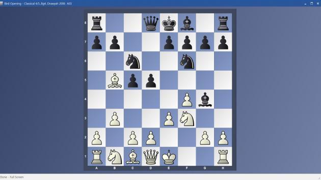 Bird Opening - 4/5..Bg4 Classical Variation