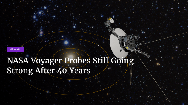 NASA Voyager Probes Still Going Strong After 40 Years