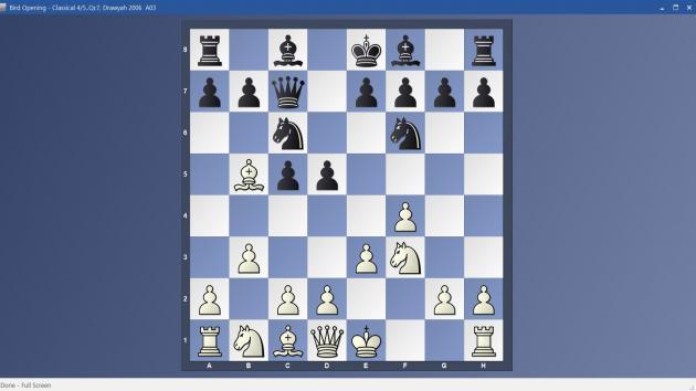 Bird Opening - 4/5..Qc7 Classical Variation