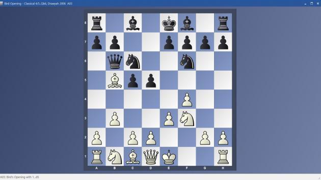 Bird Opening - 4/5..Qb6 Classical Variation