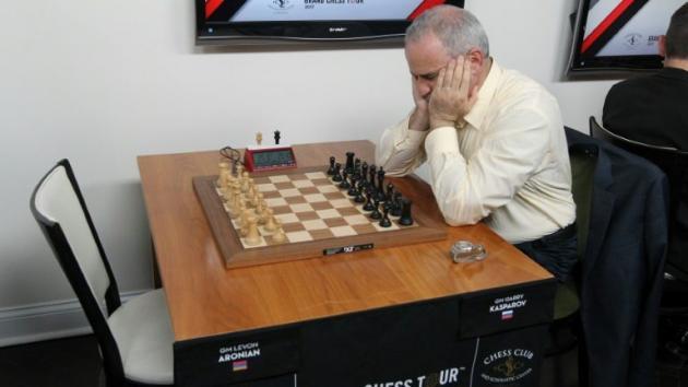 Kasparov sofre primeira derrota após voltar a competir no xadrez