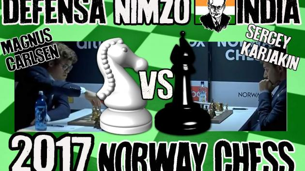 Magnus Carlsen vs Sergey Karjakin (2017) Defensa Nimzo-India