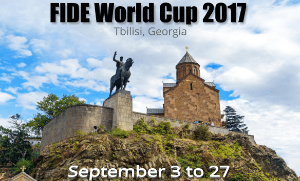 Before the tie-break of the first round at the FIDE 2017 World Cup in Tbilisi