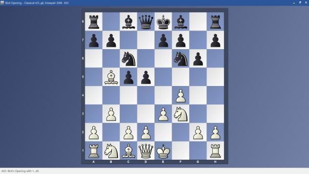 Bird Opening - 4/5..g6 Classical Variation