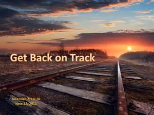Back on Track again?  I say that too many times LOL?