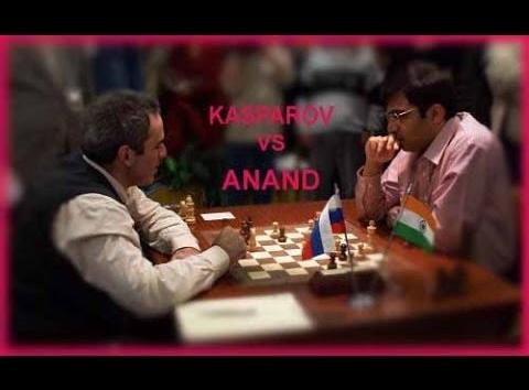 Kasparov forced Anand to resign on 17th move