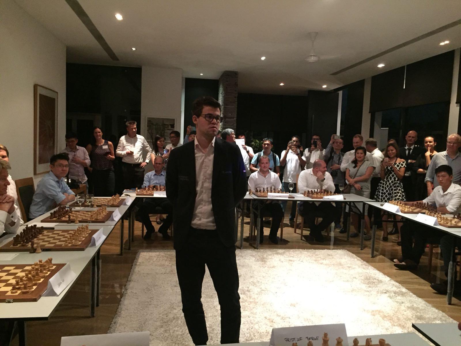 Magnus Carlsen s Singapore Simultaneous Exhibition an astounding