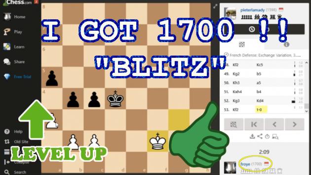 I GOT 1700 Blitz Rating,, Level Up.. wait for me 2000!