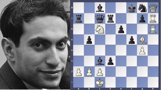 Mikhail Tal vs Alexander Koblents 1957