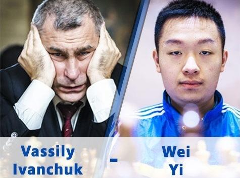 Wei Yi drags Ivanchuk's King to d4 but lost