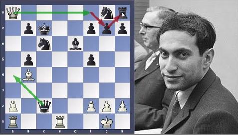 Mikhail Tal crushes Wolfgang Uhlmann