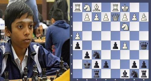 11 yrs Praggnanandhaa beat GM in 18 moves