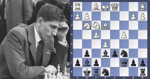 Fischer's Queen sac ended the game in 23 moves