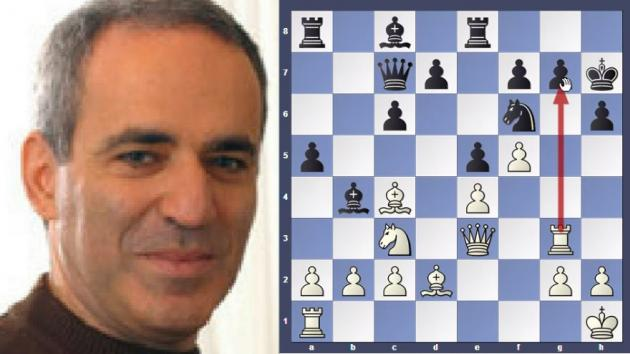 Kasparov completed the exchange in 11 moves