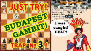 Сhess traps! Trick in the opening Budapest gambit!'s Thumbnail