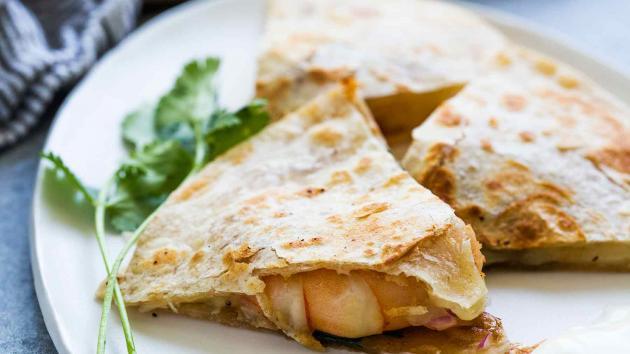 GFE ft Refried Bean Quesadillas with Shrimp (I)
