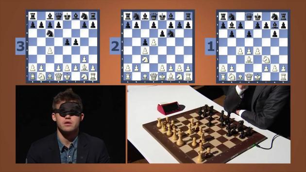 Blindfolded Magnus Carlsen Timed Chess Simul at the Sohn Conference in NYC