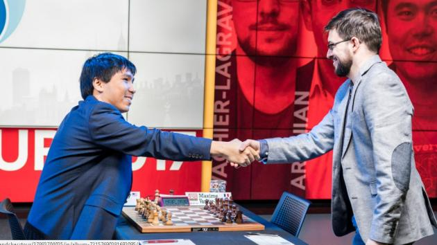 Fast Game Wesley So vs Maxime Vachier Lagrave - LONDON CHESS CLASSIC 2017