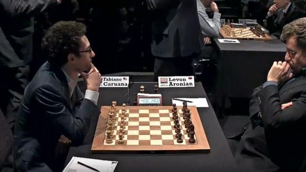 CARUANA vs ARONIAN - LONDON CHESS CLASSIC 2017 Round 2
