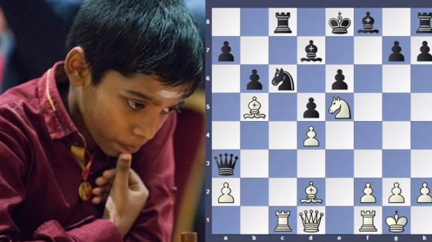 11 yrs Praggnanandhaa beat oppenet in just 19 moves
