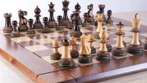 Heirloom Burnt Finish Grandmaster Chess Set's Thumbnail