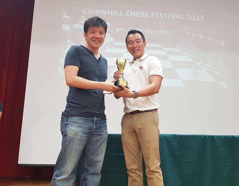 IM Goh Wei Ming pips FM Nelson Villanueva to the Cairnhill Open title!