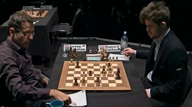 CARLSEN BEAT ARONIAN With BLACK PIECES - London CHESS Classic 2017 Round 9