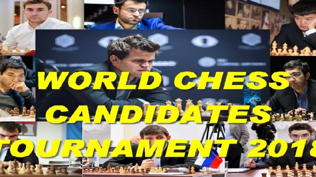 The 8 GRAND MASTER Participants WORLD CHESS CANDIDATES TOURNAMENT 2018