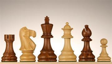 "4"" Weighted English Chessmen"