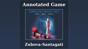 Annotated game : Zubova vs Santagati - International tournament of Bastia