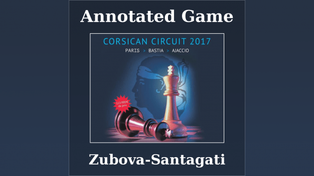 Annotated game : Zubova vs Santagati - International tournament of Bastia