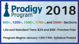 Prodigy Program 2.0 Starts Jan 13th/14th!