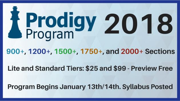Prodigy Program 2.0 Starts Jan 13th/14th!
