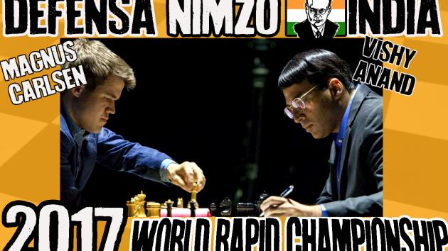 Magnus Carlsen vs Vishy Anand (2017) Defensa Nimzo-India