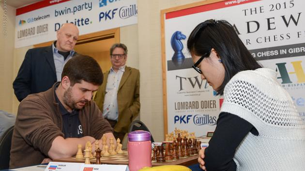 Behind the scenes of Svidler - Hou Yifan, Tata Steel 2018