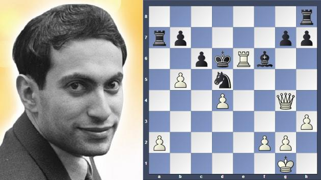 Mikhail Tal needs only Queen to win