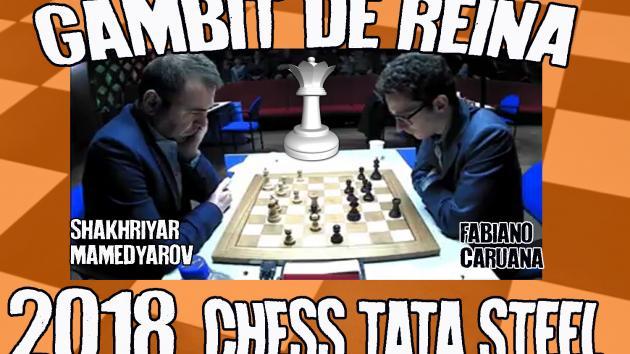 Shakhriyar Mamedyarov vs Fabiano Caruana (Tata Steel 2018) Gambit de reina refusat