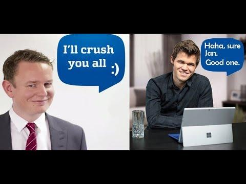 Magnus Carlsen Pranks Jan Gustafsson by Playing on His Friend's Account