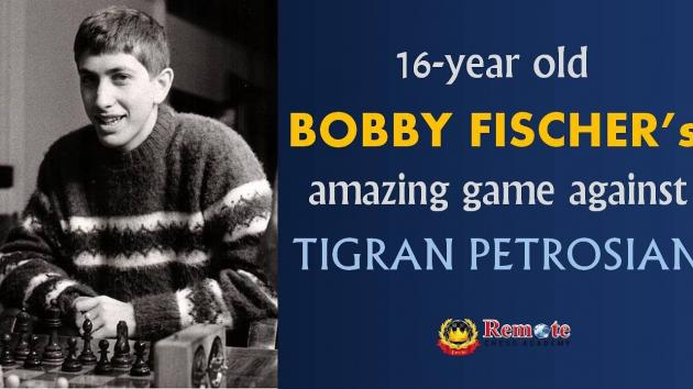 16 year old Bobby Fischer's amazing Four Queens Chess Game against 'Iron Tiger' Tigran Petrosian!