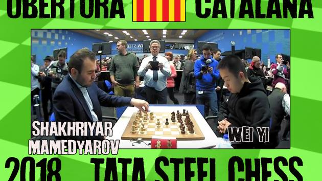 Shakhriyar Mamedyarov vs Wei Yi Tata Steel (2018) Obertura Catalana Oberta