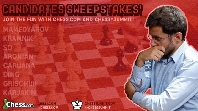 Chess^Summit and Chess.com Team up for the Candidates Sweepstakes!