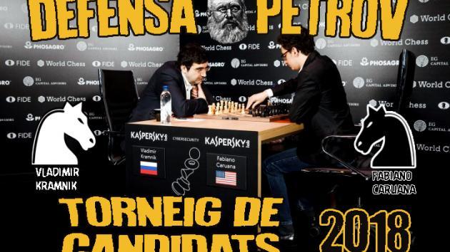 Vladimir Kramnik vs Fabiano Caruana (candidats 2018) Defensa Petrov