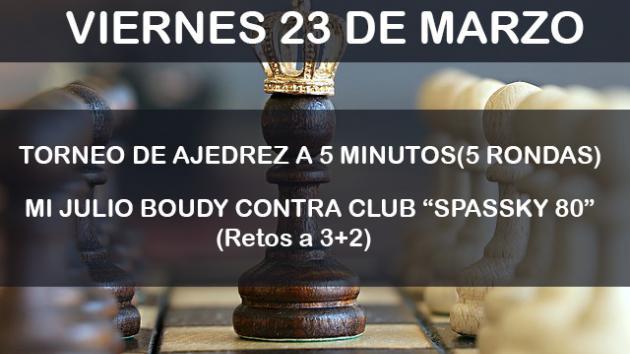 TORNEO DE AJEDREZ Y PARTIDAS CONTRA EL MAESTRO JOTABEBE !!!!!!!!!! VIERNES 23