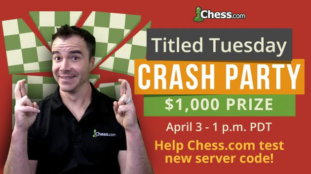 Join Us For A Titled Tuesday Crash Tournament!