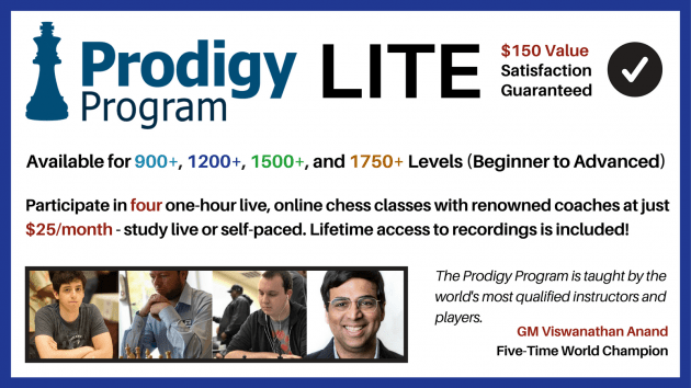Prodigy Program Lite Registration Open - April 2018