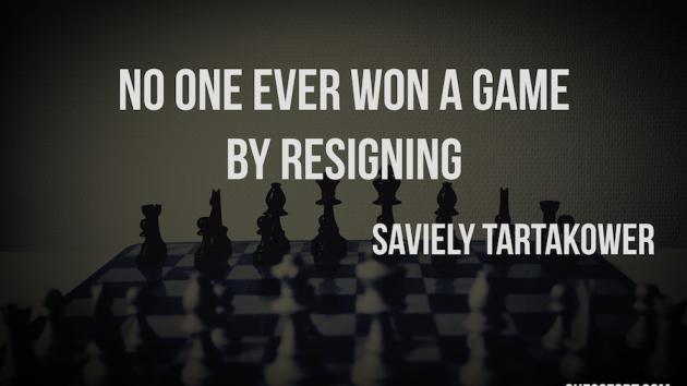 Never Resign