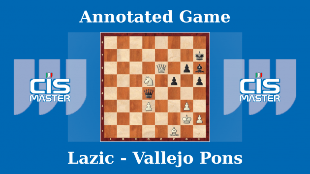 Lazic vs Vallejo Pons  - Master League Italy 2018